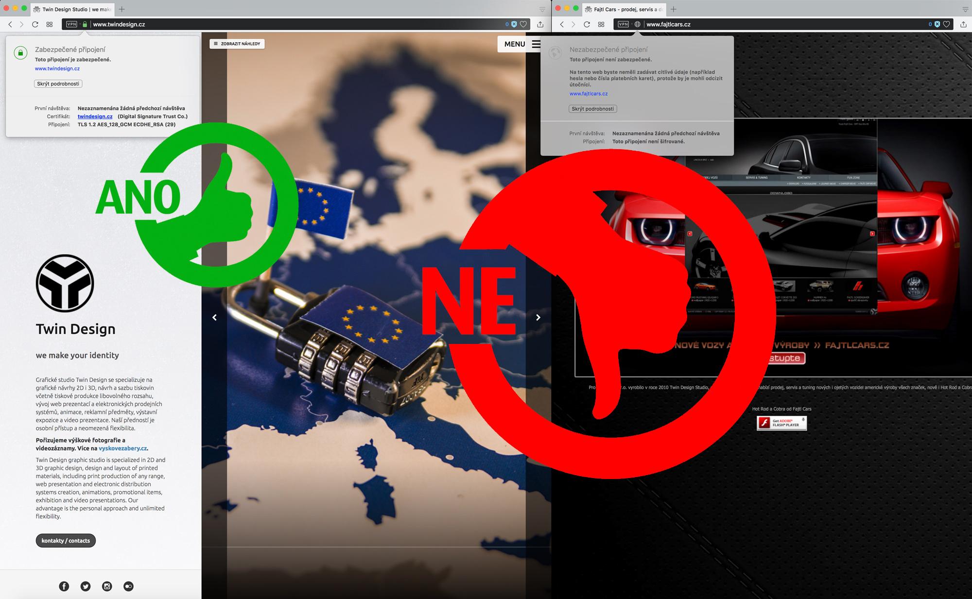 Web certifikace / šifrování SSL